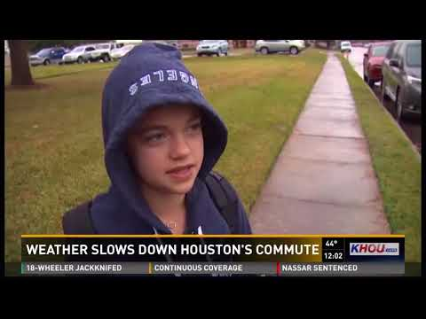 Weather slows down Houston's commute