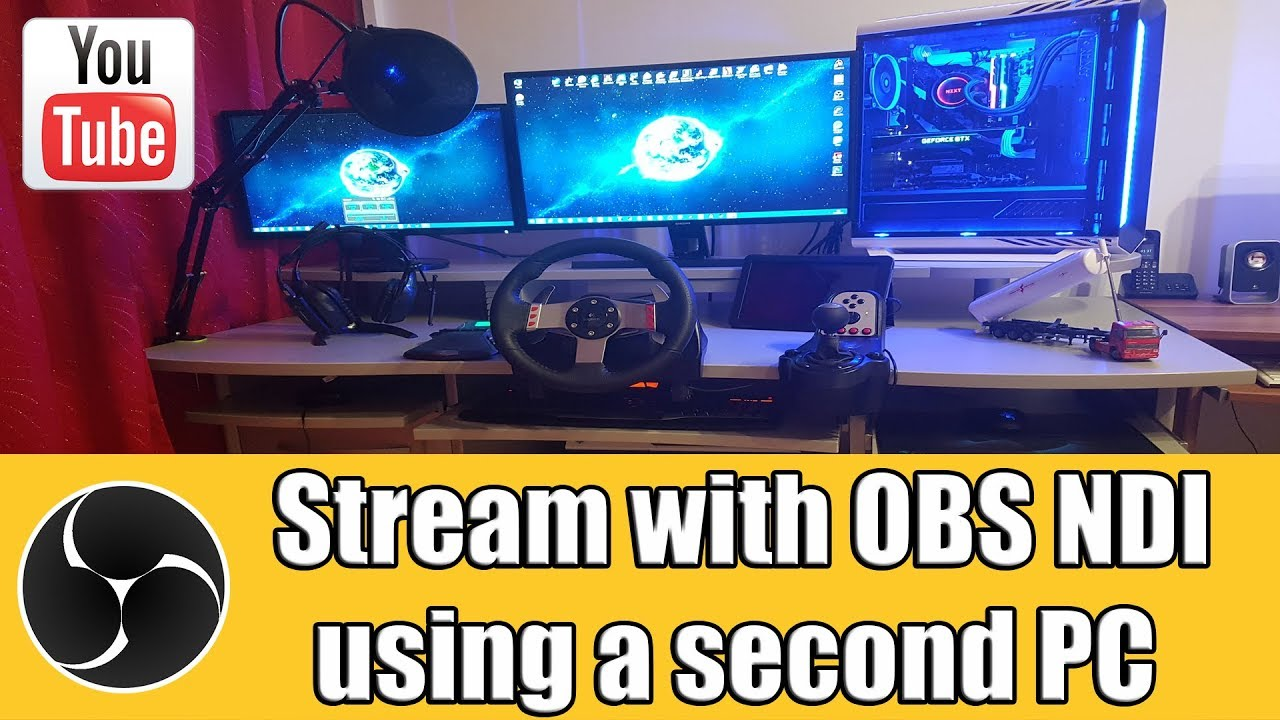 Stream Gaming PC with second PC using OBS NDI / No Capture