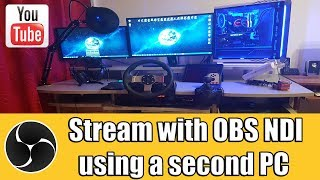 Stream Gaming PC with second PC using OBS NDI / No Capture Card TUTORIAL