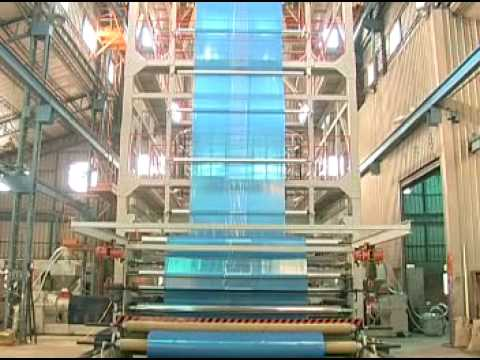 3 Layer Co Extrusion Plasitc Blown Film Line Youtube