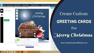 How to Create Custom Merry Christmas 2020 Wishes and Greetings Card