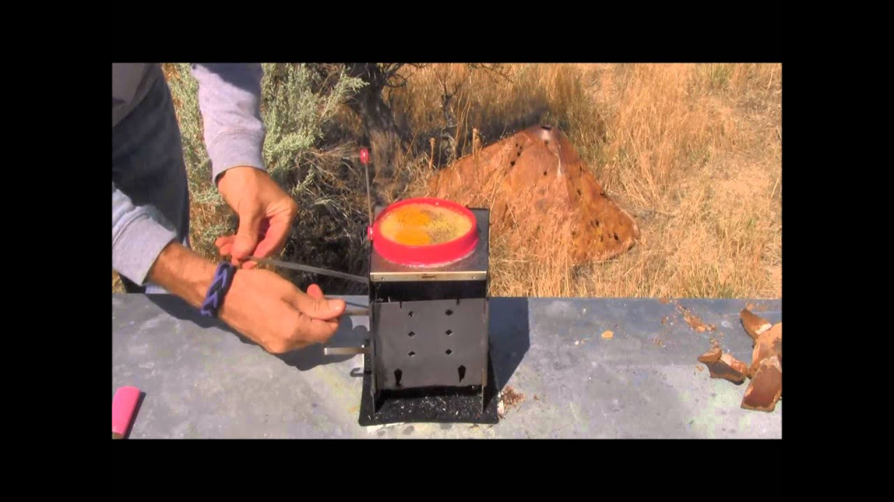 Cooking without a stove - Folding Firebox Stove Cooking Eggs Without A Pan Using Coconut Shells As Fuel Carbon Felt Test Youtube
