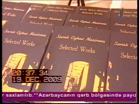 "New book about Azerbaijan in English languages - Sara Nazirova ""Selected work"""