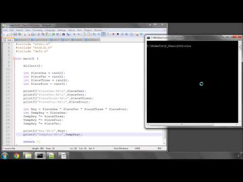 Programming A Chess Engine In C Part 11 - Position Key (Hashkey) #1