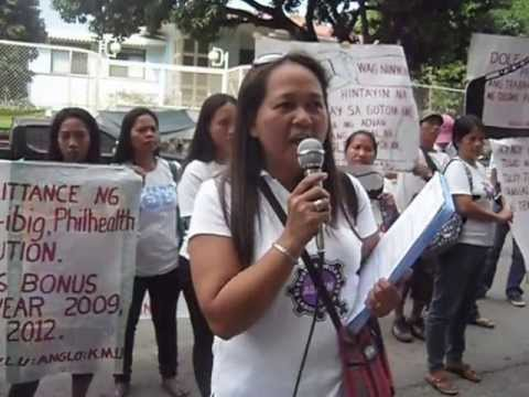 Ka Gloria Bongon sa harap ng National Labor Relations Commission