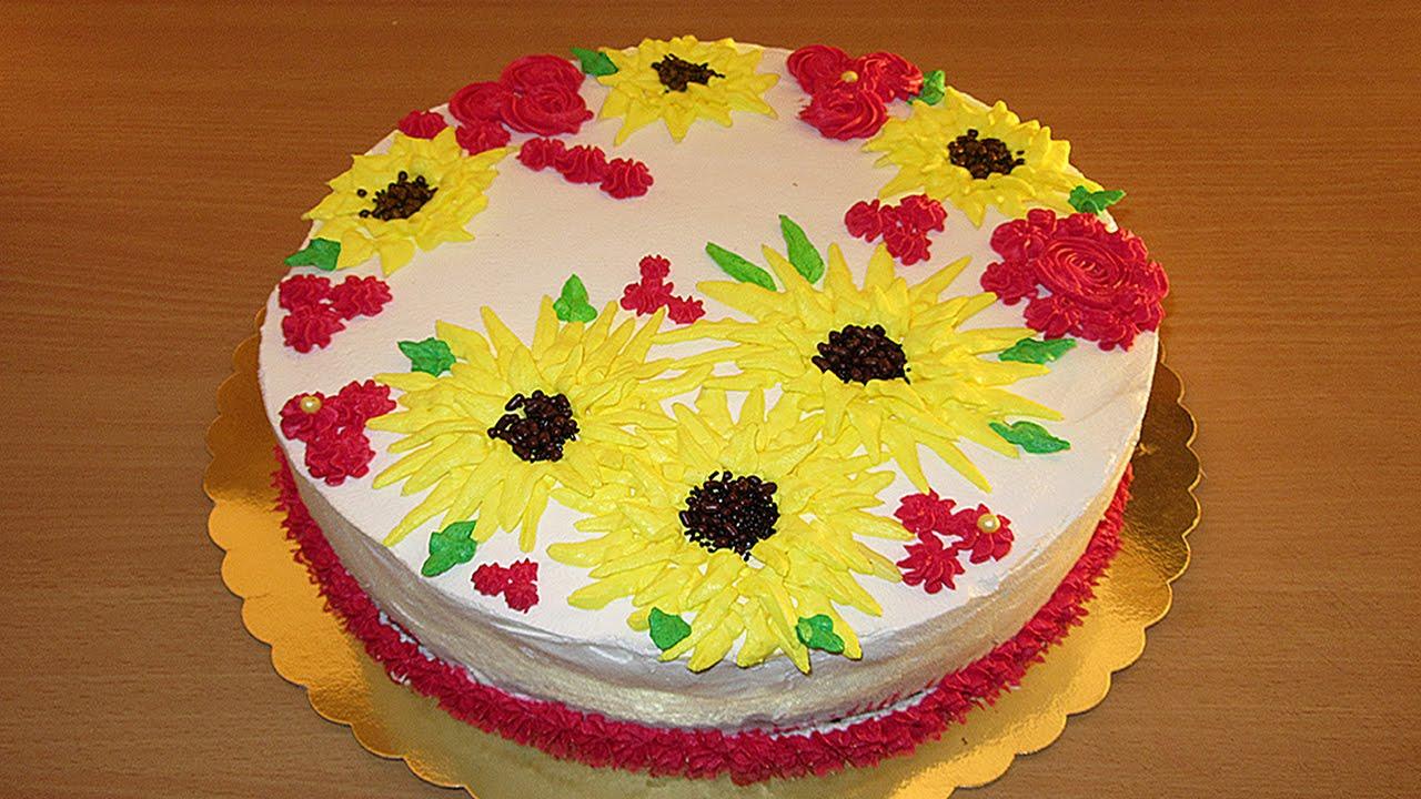 Simple Beginners Decorating Ideas Cake