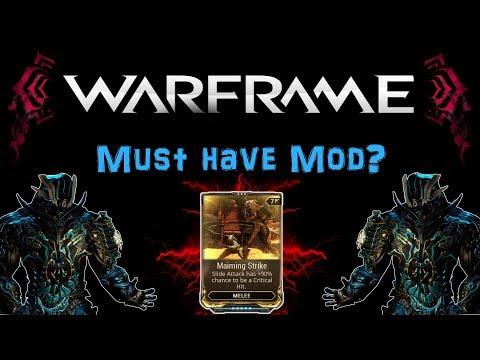 [U21.4] Warframe - Maiming Strike - Is it really a Must Have? [Explanation] | N00blShowtek