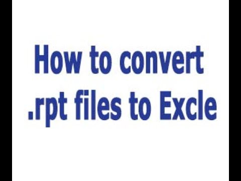How to convert  rpt files to  xls - Tds Tax India |  rpt files to excel  without software
