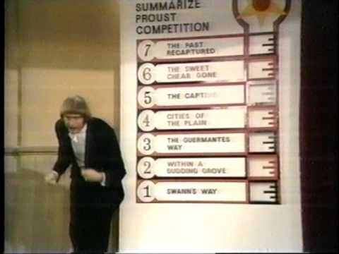 "Watch Monty Python's ""Summarize Proust Competition"" on the 100th Anniversary of Swann's Way"