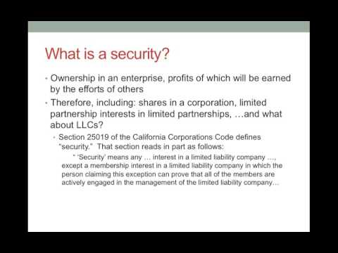 Business Organizations   Securities