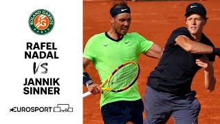Rafael Nadal v Jannik Sinner | 2021 Roland Garros - Round 4 Highlights | Tennis | Eurosport