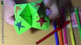 Гадалка из бумаги / Интересное оригами для детей(Очень забавная игрушка сделанная своими руками. Суть в том, что вы загадываете число и цвет, потом вертите..., 2014-10-09T17:41:00.000Z)