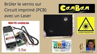 Gravure Laser Vernis sur PCB (Circuit imprimé)
