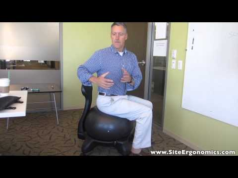 hqdefault - Gaiam Balance Ball Chair Back Pain Relief Office Chairs