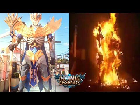 HEROES NEVER FADE 😱 GIANT ZILONG FIREWORKS STATUE | MOBILE LEGENDS