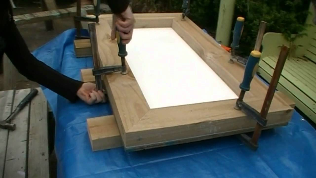 Making A Concrete Seat Part Making The Form YouTube - Concrete picnic table forms