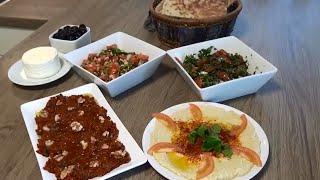 Kahvaltılık Çesitleri/ Biber ezmesi/Zahter ve Sürk salatası/Humus | Hatice Mazı ile Yemek Tarifleri