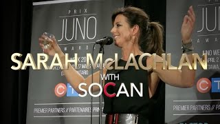 Sarah McLachlan with SOCAN