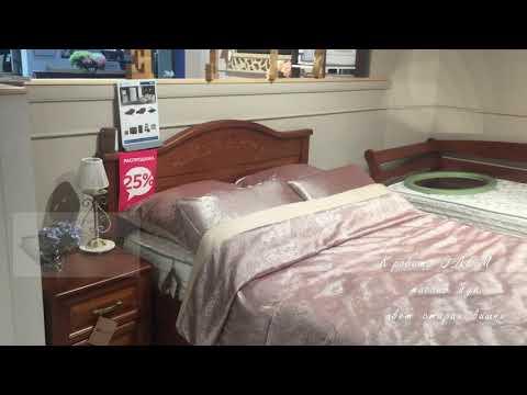 Кровать Эдем, массив бука, цвет старая вишня - видео обзор интернет магазина Sleepnation.ru