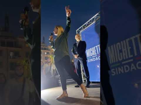 Meloni: Ora da Piazza dei Mirti (Roma), insieme al candidato sindaco del centrodestra Michetti.