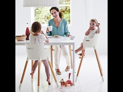 Asunflower Wooden High Chair Adjustable Feeding Baby Highchairs Solution with Tray