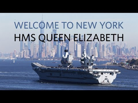 Royal Navy's HMS Queen Elizabeth visits New York
