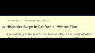 WHITE POPULATION COLLAPSING IN CALIFORNIA****