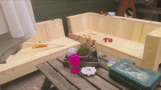 DIY Sectional sofa outdoor