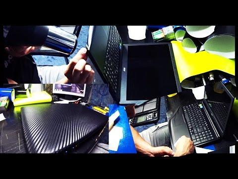 Carbon Vinyl Wrap Laptop