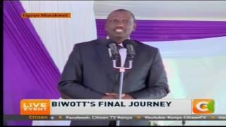 Deputy President William Ruto's speech at Biwott's funeral
