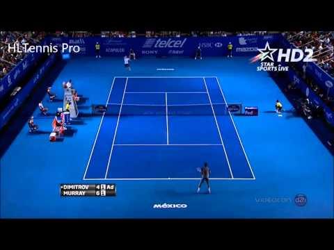 Dimitrov Amazing Point vs Murray ~ Acapulco Open 2014 Semifinals waaaaw