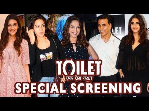 Bollywood Celebrities At Red Carpet Premiere Of Toilet - Ek Prem Katha