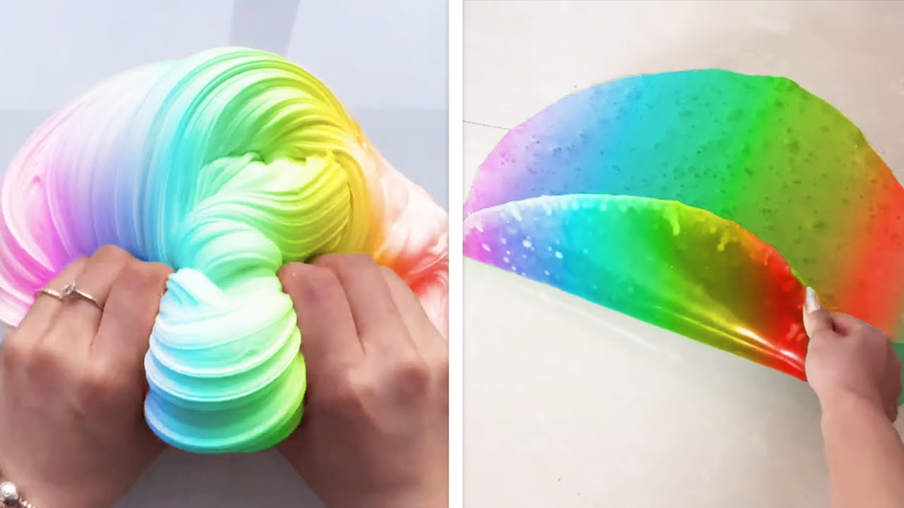 Oddly Satisfying Slime ASMR No Music Videos - Relaxing Slime 2020 - 72