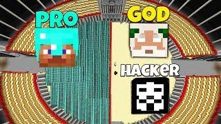 Minecraft Battle: NOOB vs PRO: 100.000 PRO VS HACKER AND GOD CHALLENGE / Animation