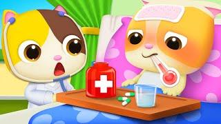 Download I don't Like Medicine | Doctor Cartoon | Boo Boo Song | Kids Songs | Baby Cartoon | BabyBus