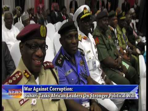 War Against corruption: Buhari tasks African leaders on stronger political will