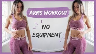 10 Min Toned Arms Workout | NO PUSHUPS NO EQUIPMENT
