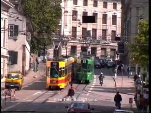Basel Trams at Steinenburg in September 1993