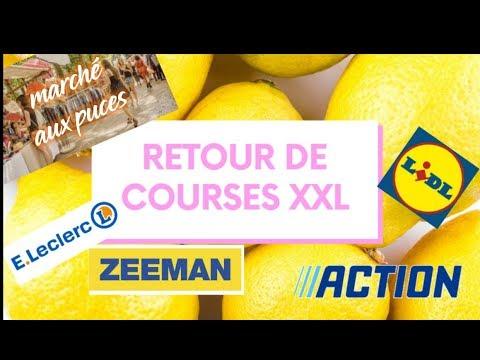 🍓🛒 RETOUR DE COURSES 🍓🛒....... Action Zeeman Lidl Leclerc Espagne Et Marché Aux Puces