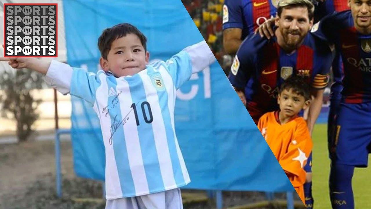 "810c88423 Lionel Messi Meets ""Plastic Bag Boy"" Murtaza Ahmadi - YouTube"