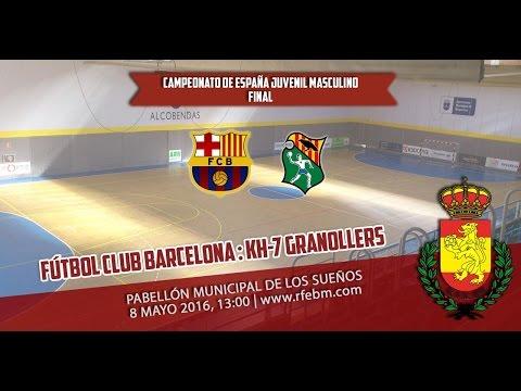 Barcelona : Granollers   Final del Campeonato de España 2016 - Juvenil Masculino
