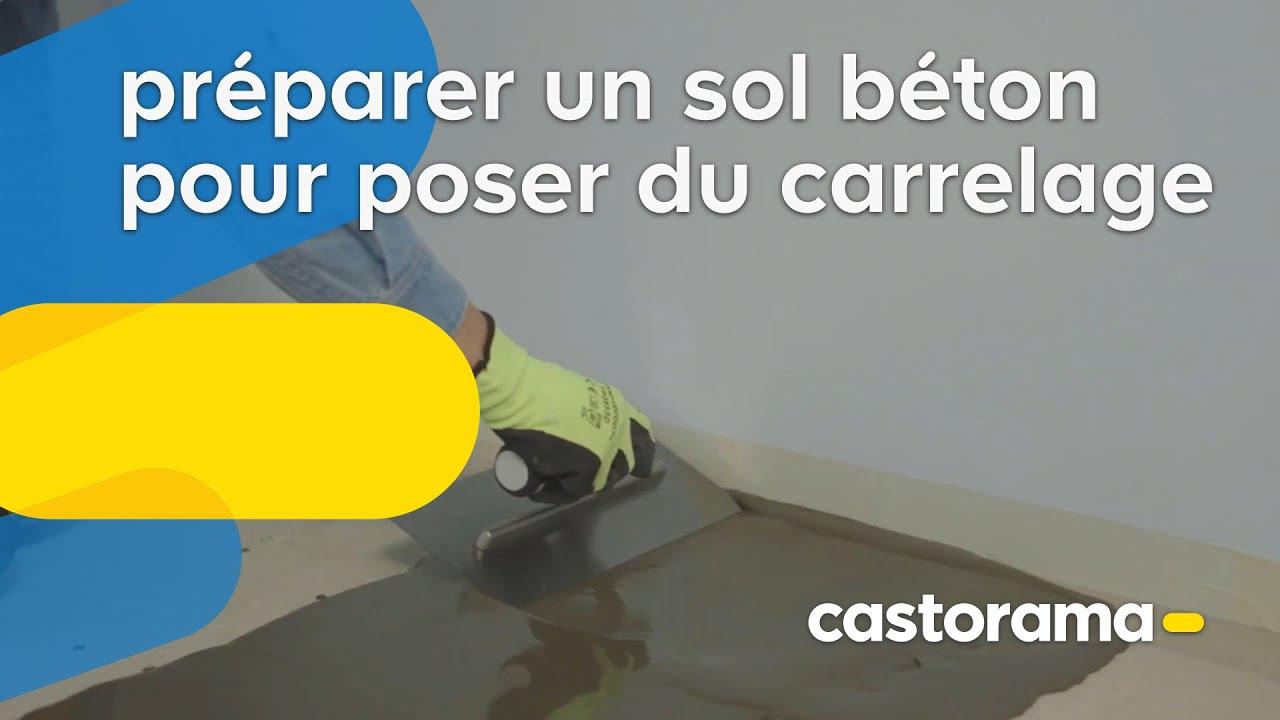 Placer Du Parquet Sur Du Carrelage comment préparer un sol béton pour poser du carrelage - castorama