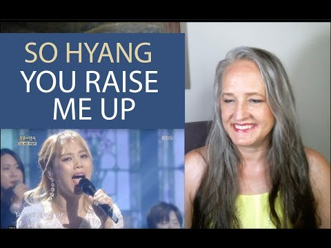 Voice Teacher Reaction to So Hyang - You Raise Me Up