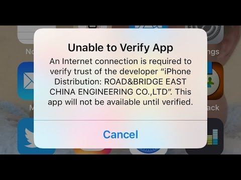 Unable To Verify App An Internet Connection Is Required To