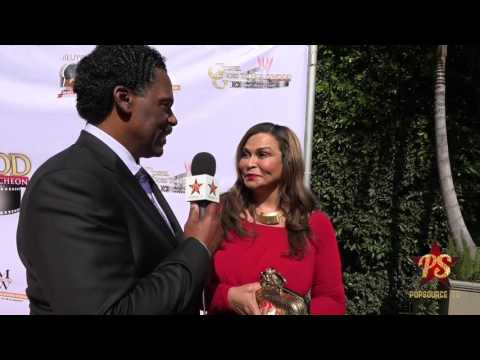 Husband & Wife Richard Lawson & Tina Knowles on Red Carpet at the 2016 Gospel Goes To Hollywood Awar