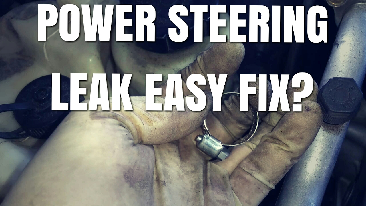 hight resolution of here is how to fix a common power steering hose clamp leak