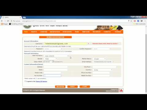 How to create account in GSRTC