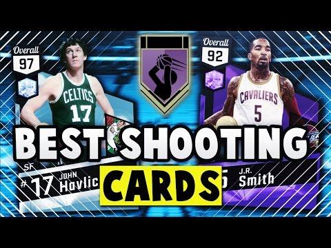 THE BEST SHOOTING CARDS IN NBA 2K17 MyTEAM JOHN HAVLICEK AND J.R. SMITH STATS! *HOF SHOOTING BADGES*