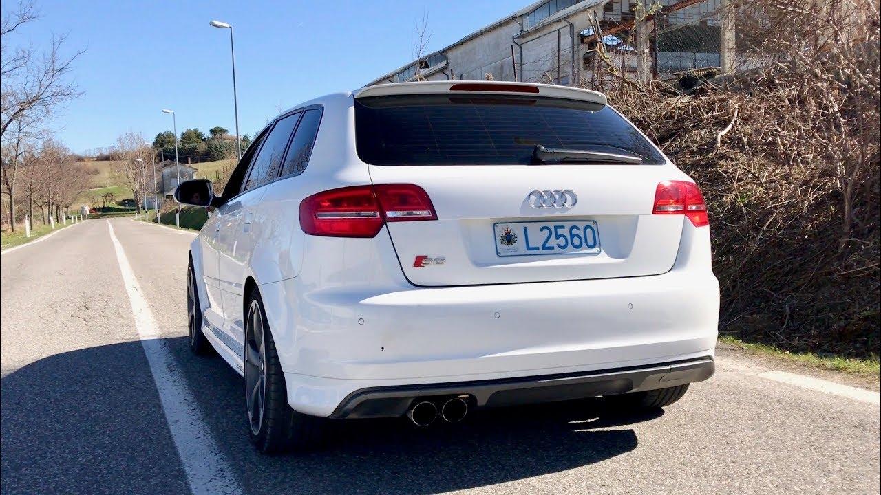 Audi S3 8P S-Tronic Milltek Exhaust Sound - YouTube