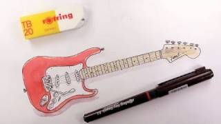 How to draw a Fender Stratocaster